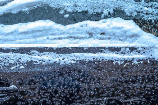 Frost auf der Scheibe