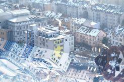 Stadt im Winterschlaf